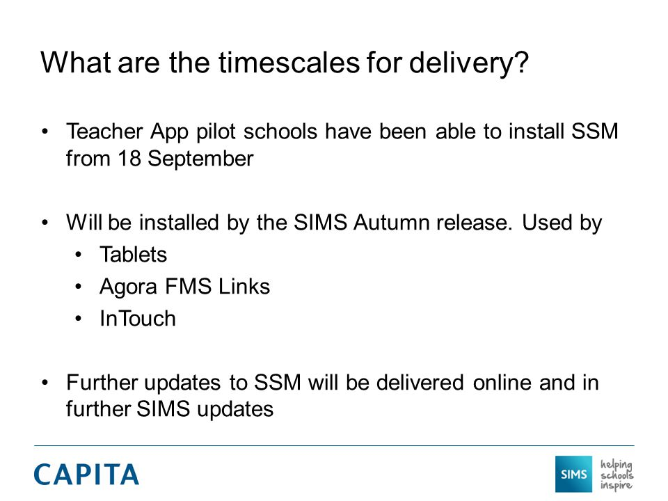What are the timescales for delivery