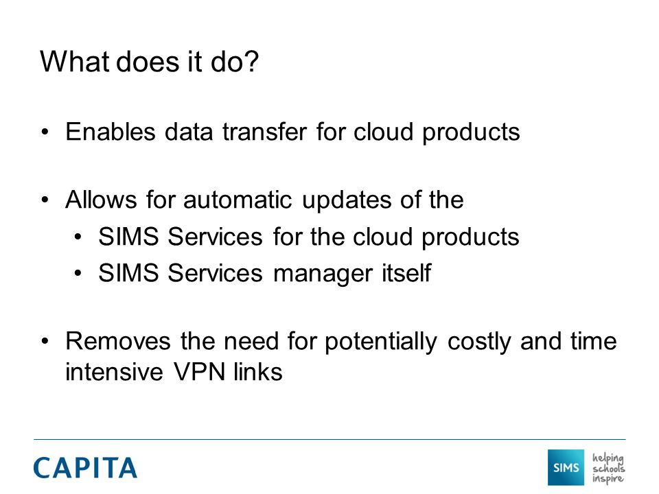 What does it do Enables data transfer for cloud products