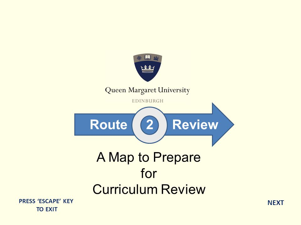 A Map to Prepare for Curriculum Review