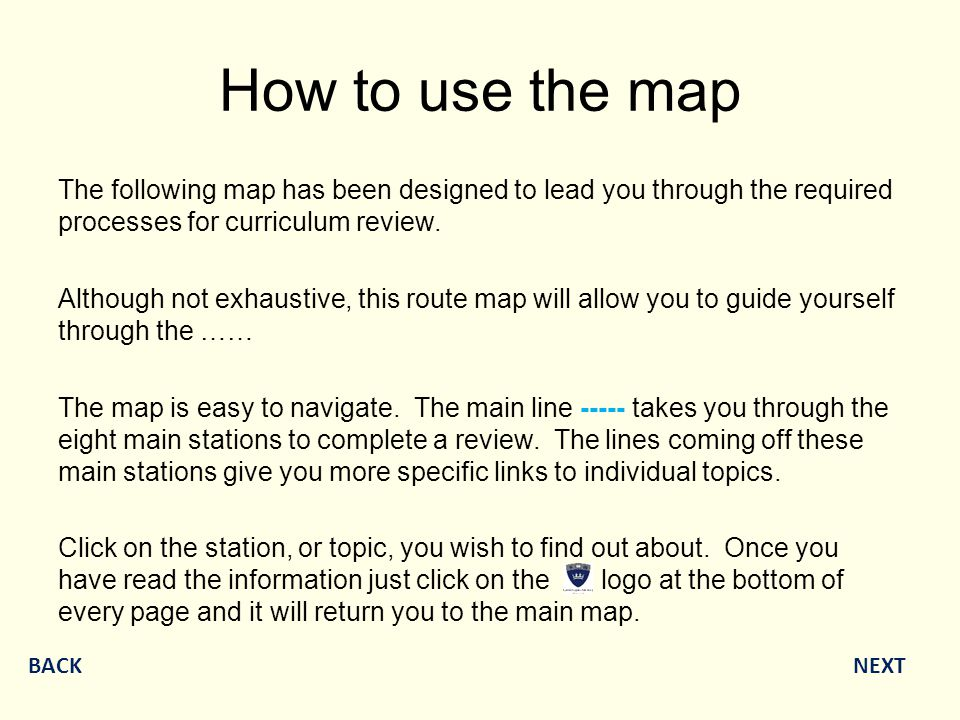 How to use the map