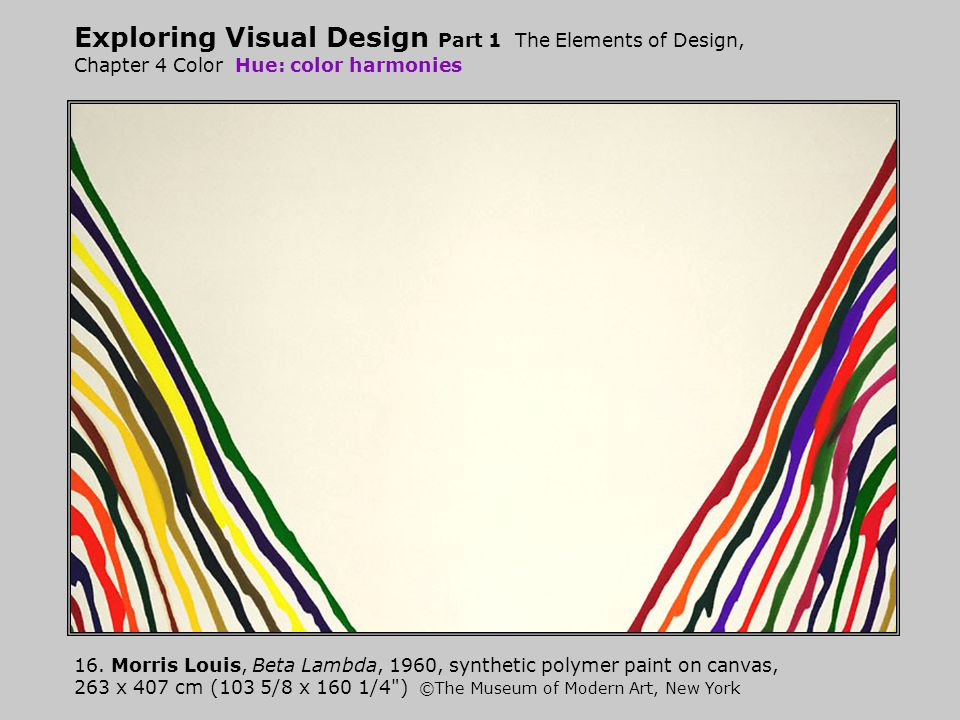Exploring Visual Design Part 1 The Elements of Design, Chapter 4 Color Hue: color harmonies
