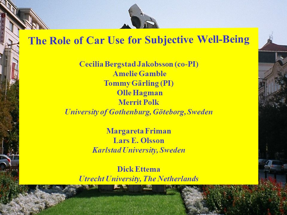 The Role of Car Use for Subjective Well-Being