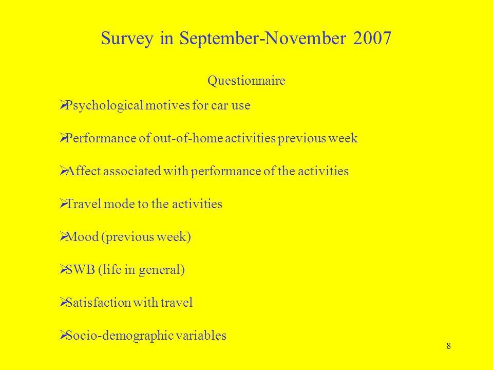 Survey in September-November 2007