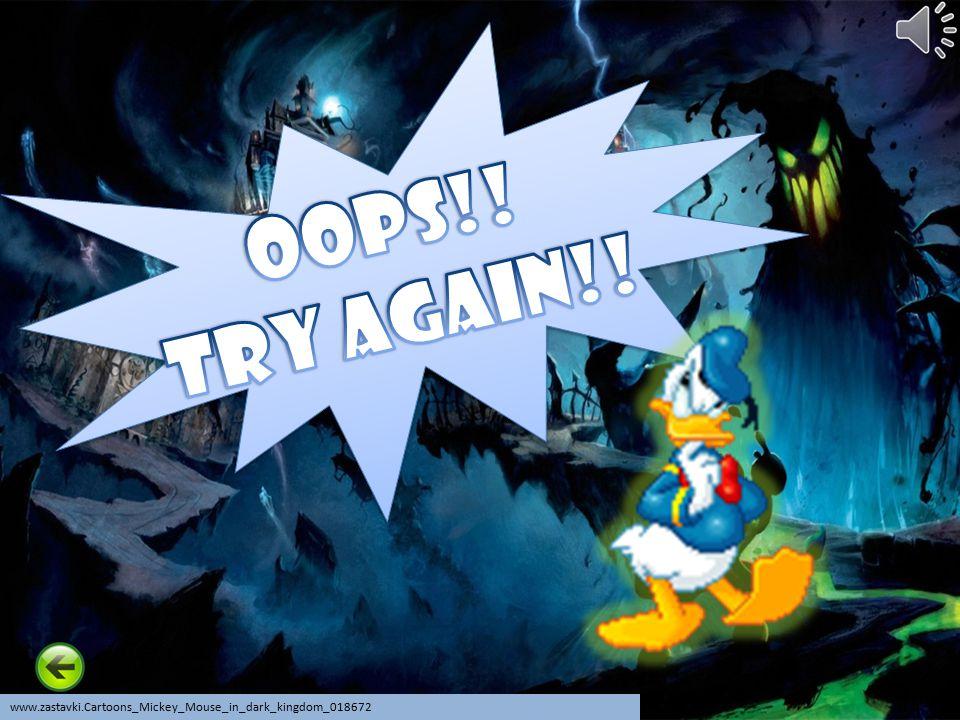 Oops!! Try Again!! www.zastavki.Cartoons_Mickey_Mouse_in_dark_kingdom_018672