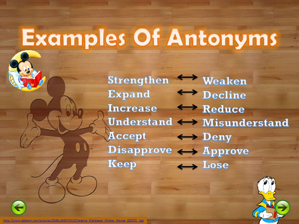 Examples Of Antonyms Strengthen Weaken Expand Decline Increase Reduce