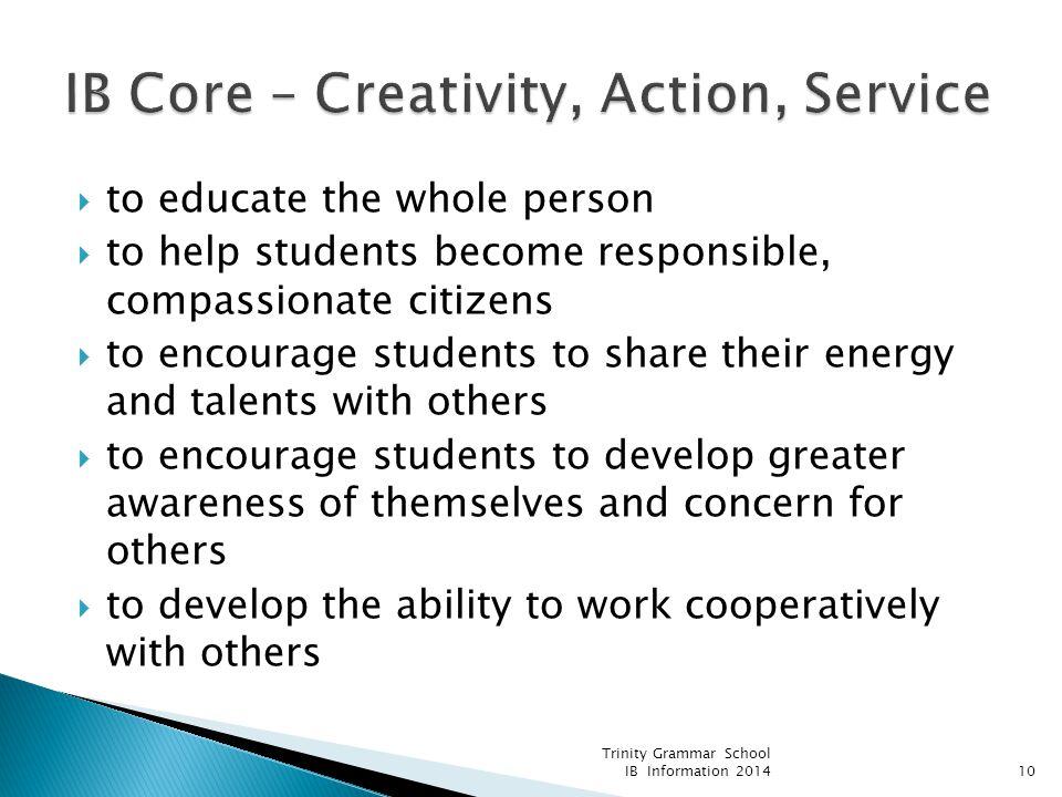 IB Core – Creativity, Action, Service