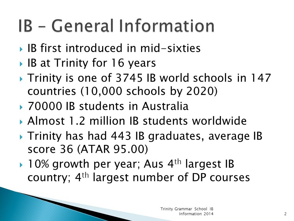 IB – General Information