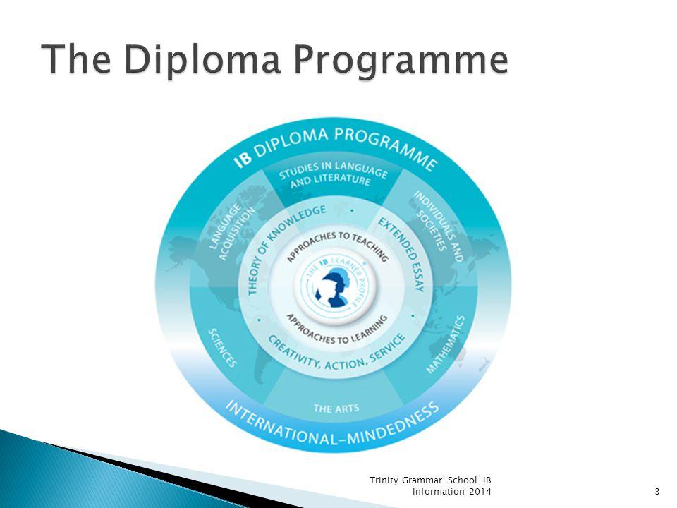 The Diploma Programme Trinity Grammar School IB Information 2014