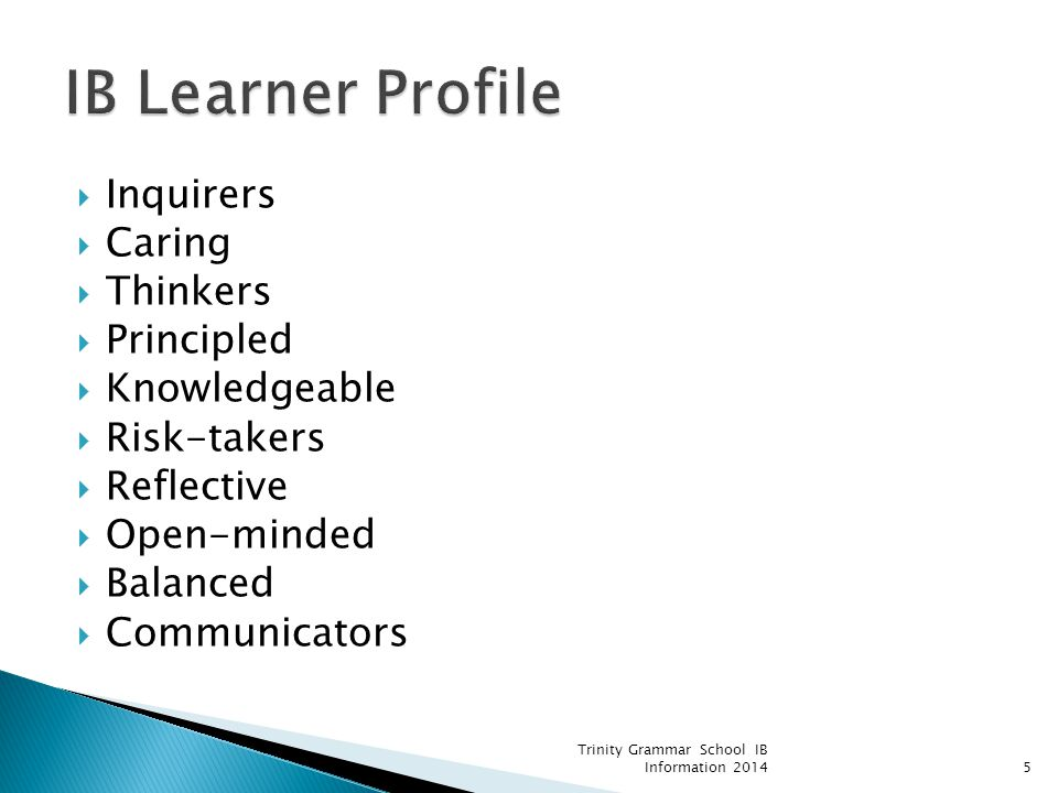 IB Learner Profile Inquirers Caring Thinkers Principled Knowledgeable