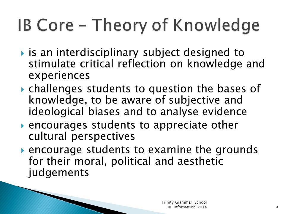 IB Core – Theory of Knowledge