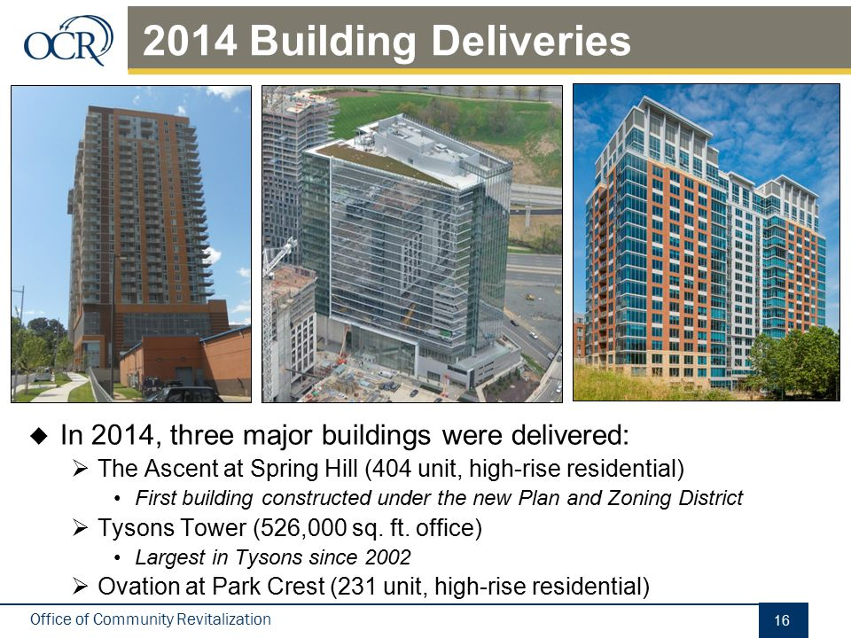 Under Construction There are 7 buildings currently under construction:
