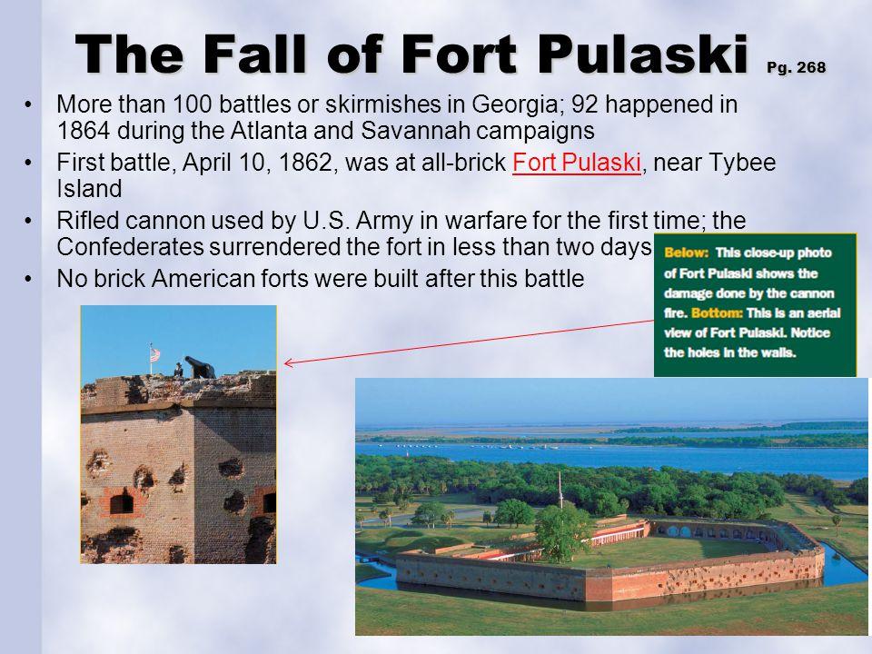 The Fall of Fort Pulaski Pg. 268