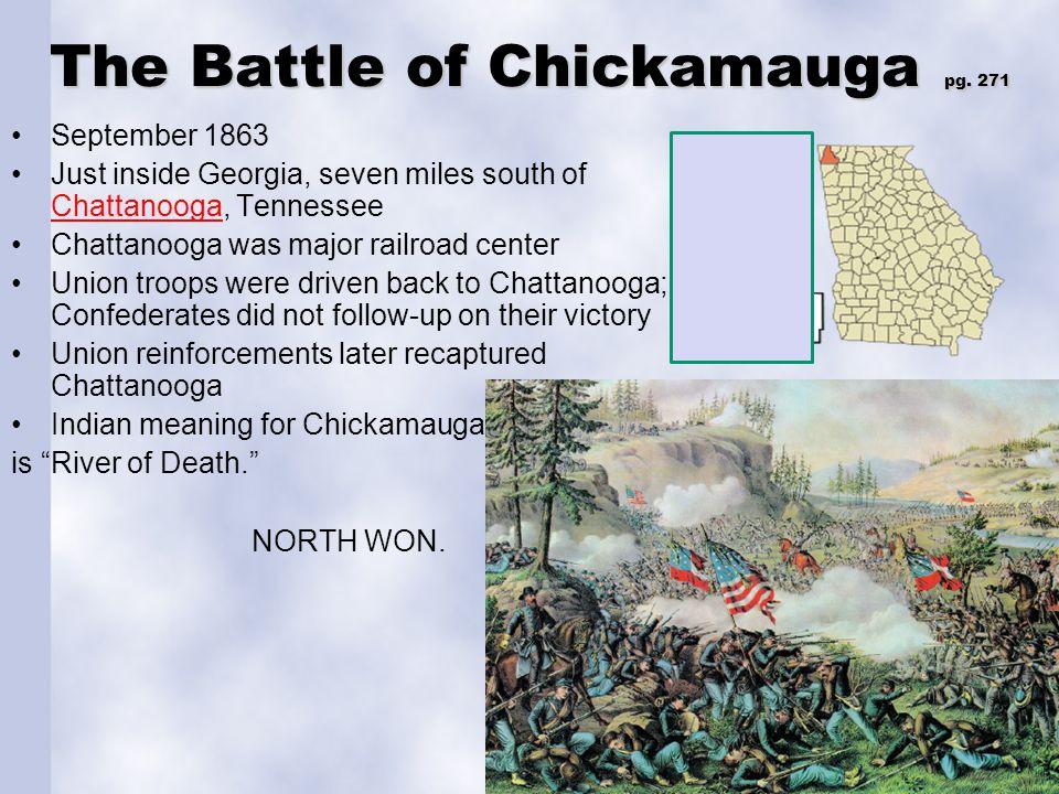 The Battle of Chickamauga pg. 271