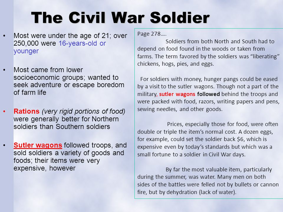 The Civil War Soldier Page 278….