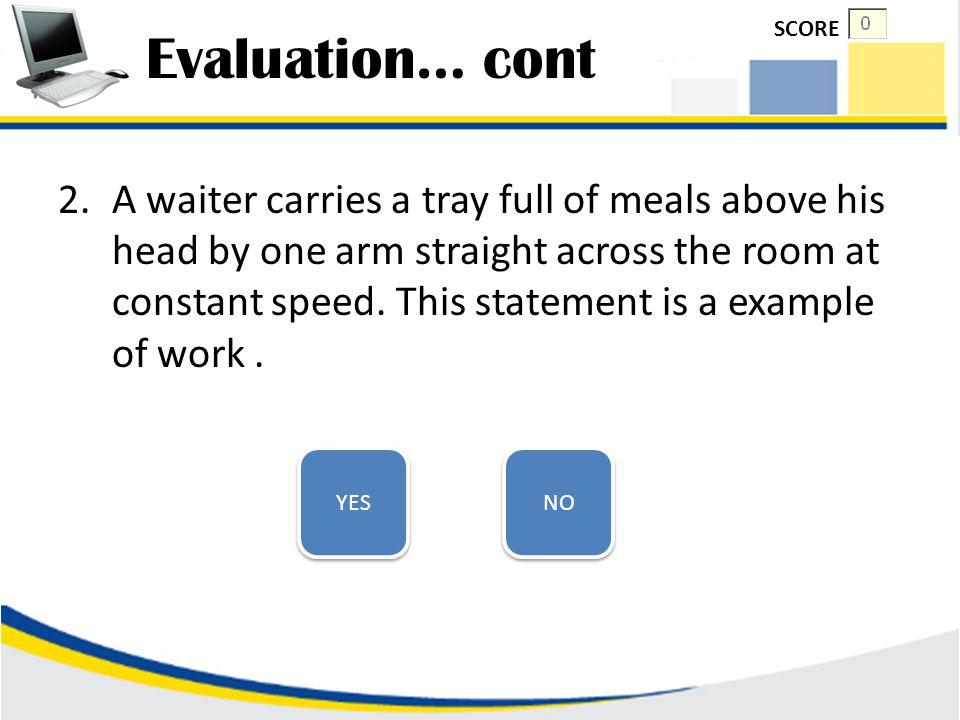Evaluation… cont SCORE.