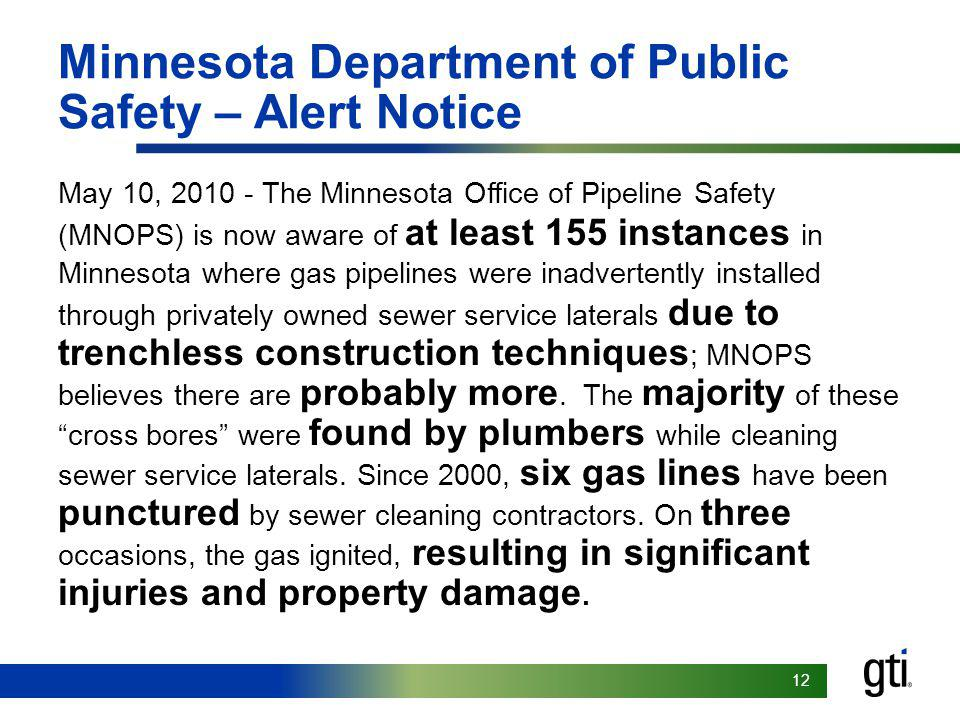 Minnesota Department of Public Safety – Alert Notice