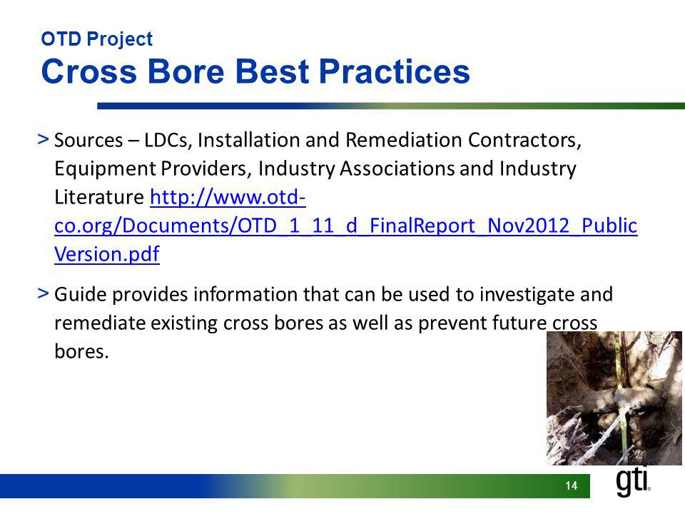 OTD Project Cross Bore Best Practices