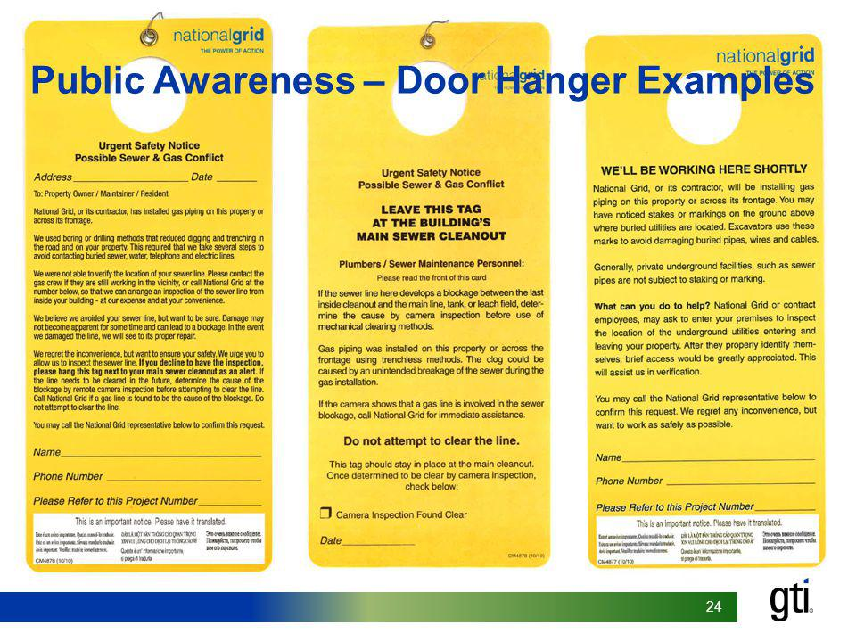 Public Awareness – Door Hanger Examples