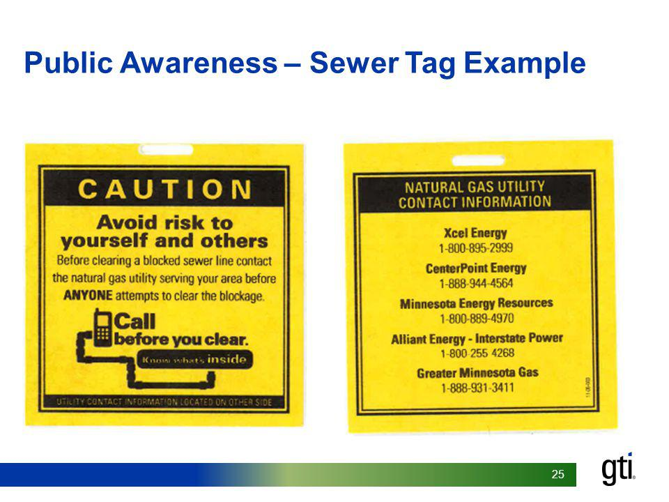 Public Awareness – Sewer Tag Example