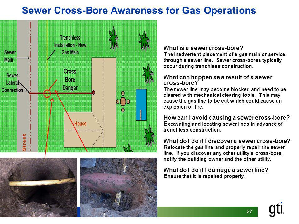 Sewer Cross-Bore Awareness for Gas Operations