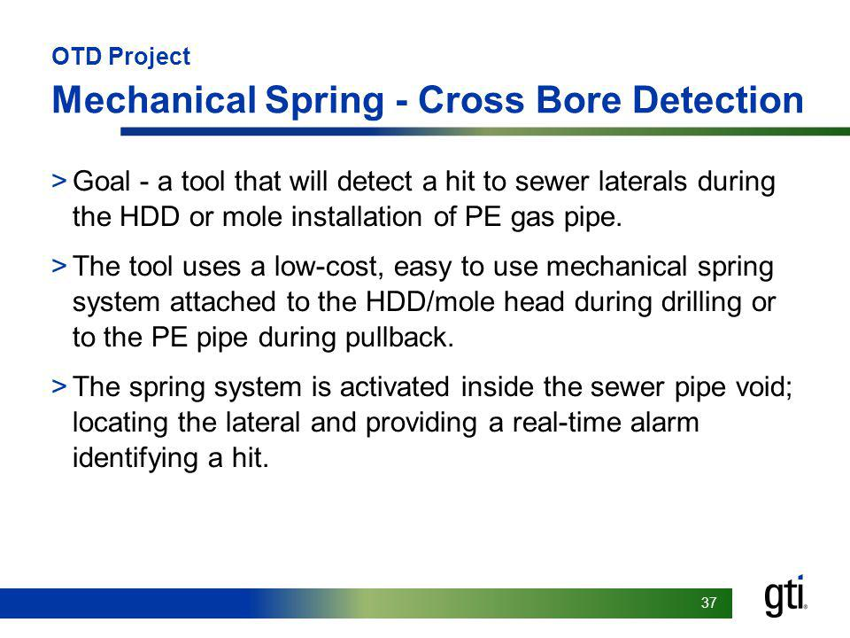 OTD Project Mechanical Spring - Cross Bore Detection