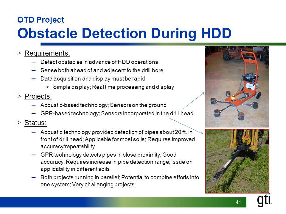 OTD Project Obstacle Detection During HDD