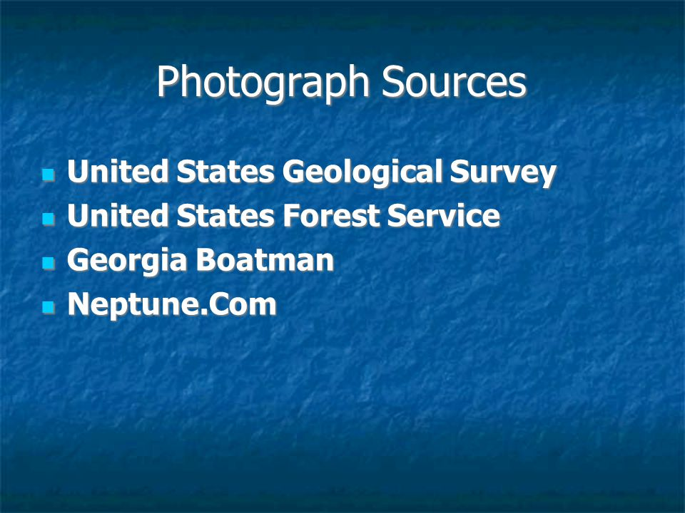 Photograph Sources United States Geological Survey