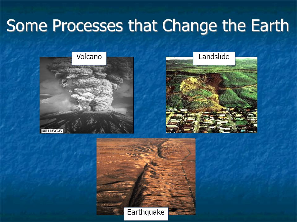 Some Processes that Change the Earth