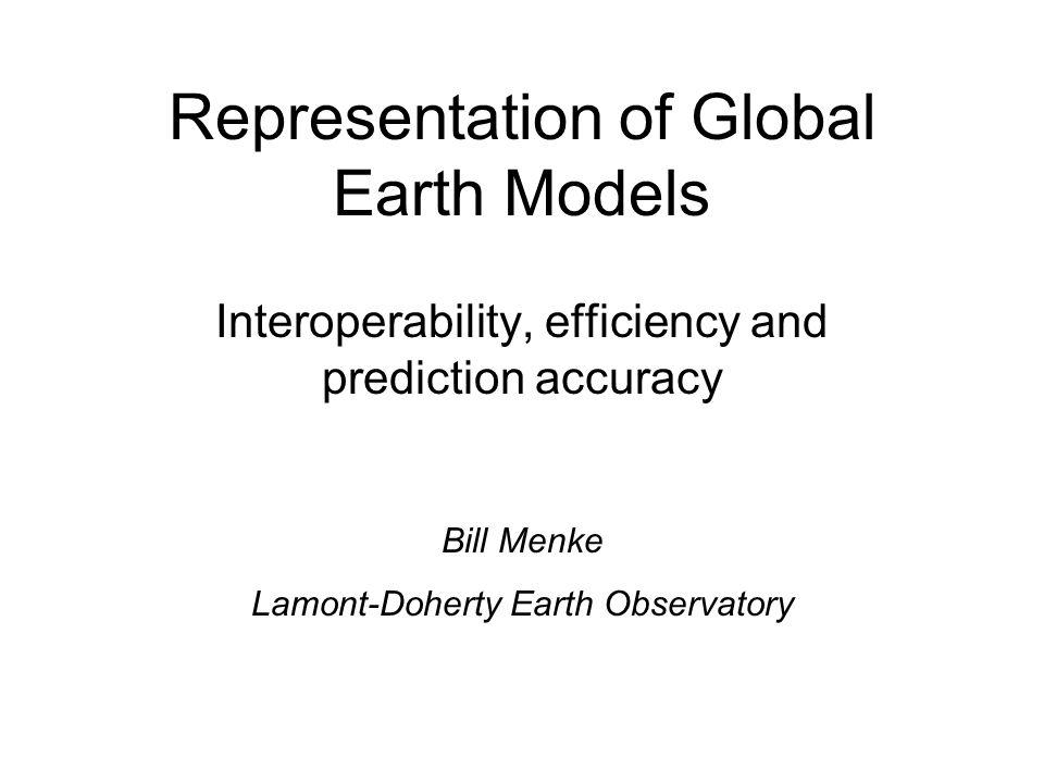 Representation of Global Earth Models