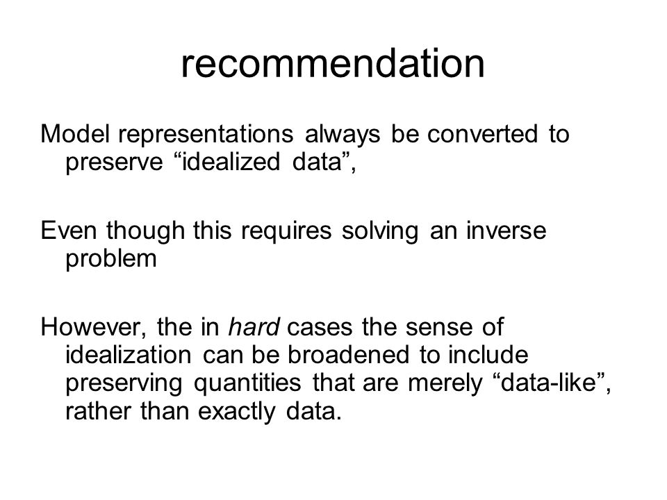 recommendation Model representations always be converted to preserve idealized data , Even though this requires solving an inverse problem.