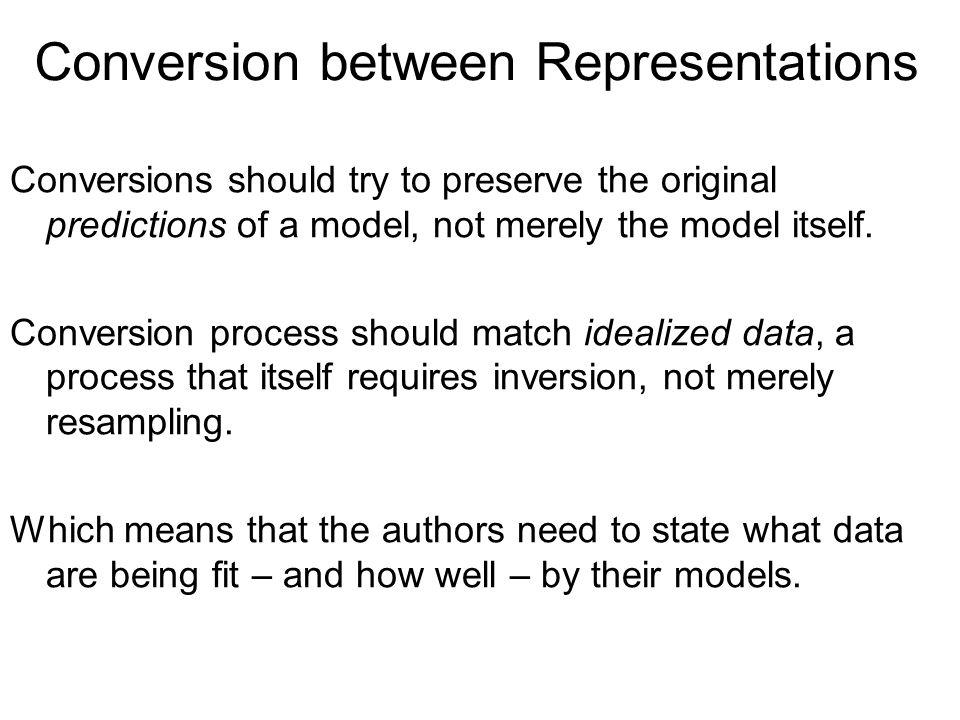Conversion between Representations