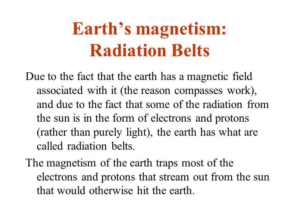 Earth's magnetism: Radiation Belts