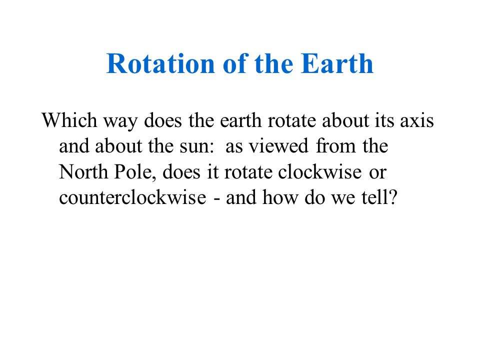 Rotation of the Earth