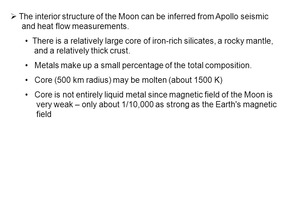 The interior structure of the Moon can be inferred from Apollo seismic