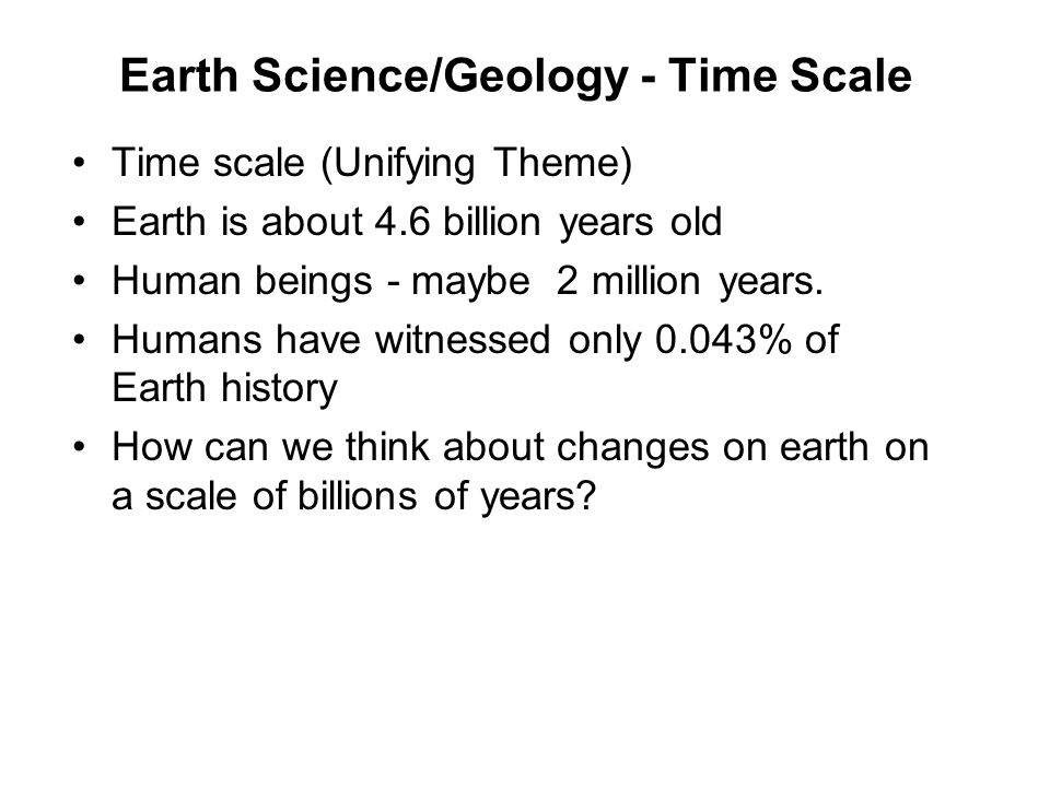 Earth Science/Geology - Time Scale