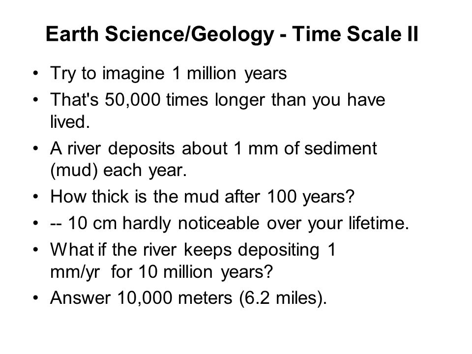 Earth Science/Geology - Time Scale II