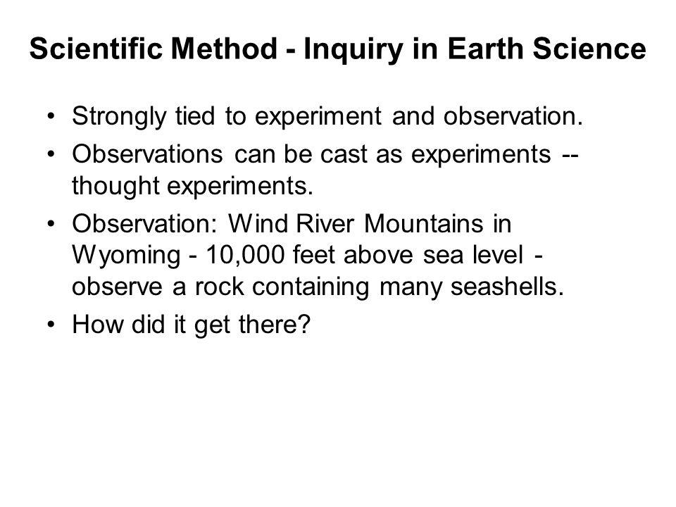 Scientific Method - Inquiry in Earth Science