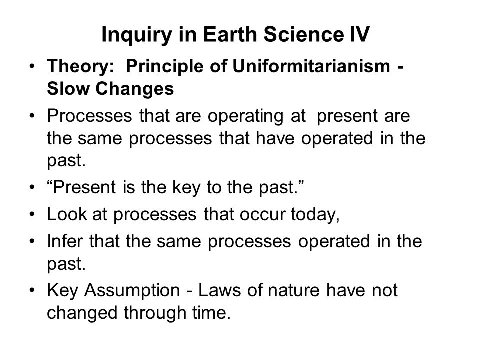 Inquiry in Earth Science IV