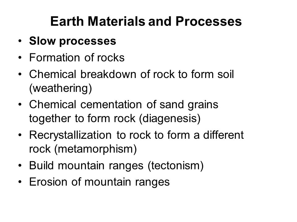 Earth Materials and Processes