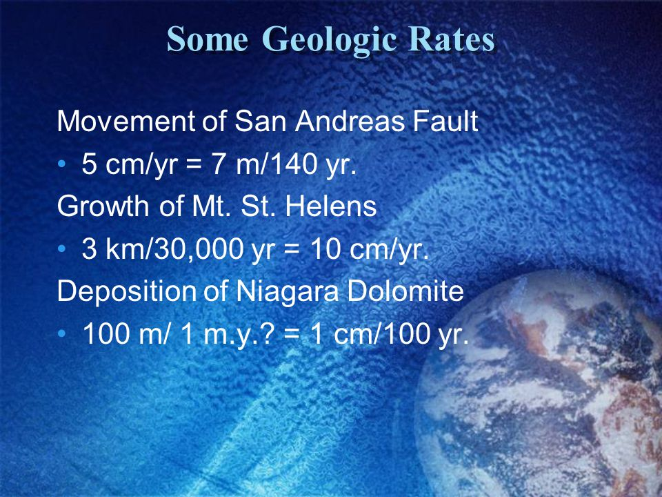 Some Geologic Rates Movement of San Andreas Fault