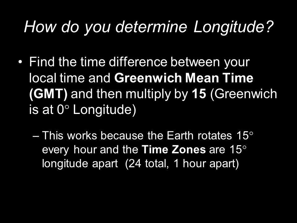 How do you determine Longitude
