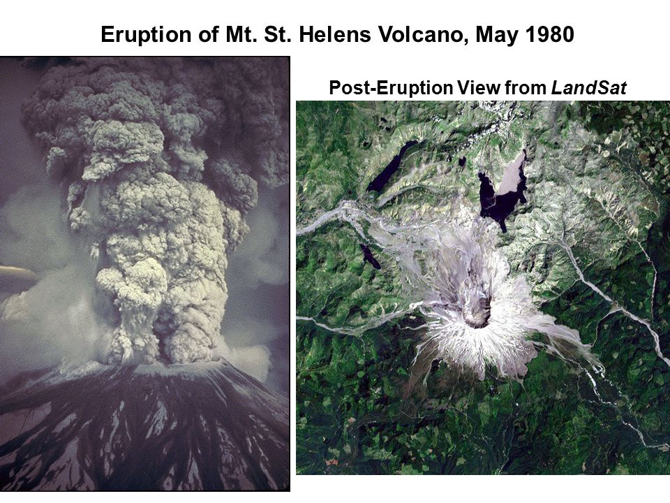 Eruption of Mt. St. Helens Volcano, May 1980