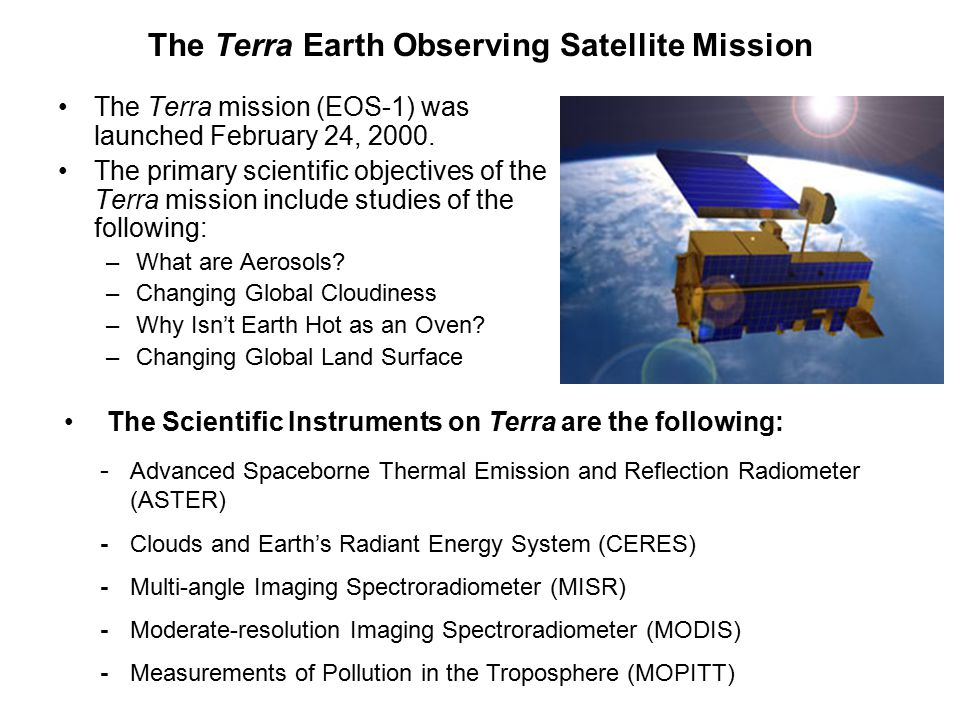 The Terra Earth Observing Satellite Mission