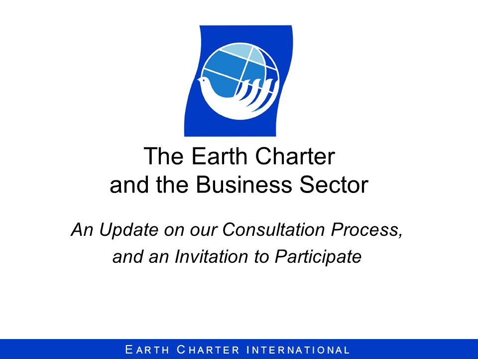 The Earth Charter and the Business Sector