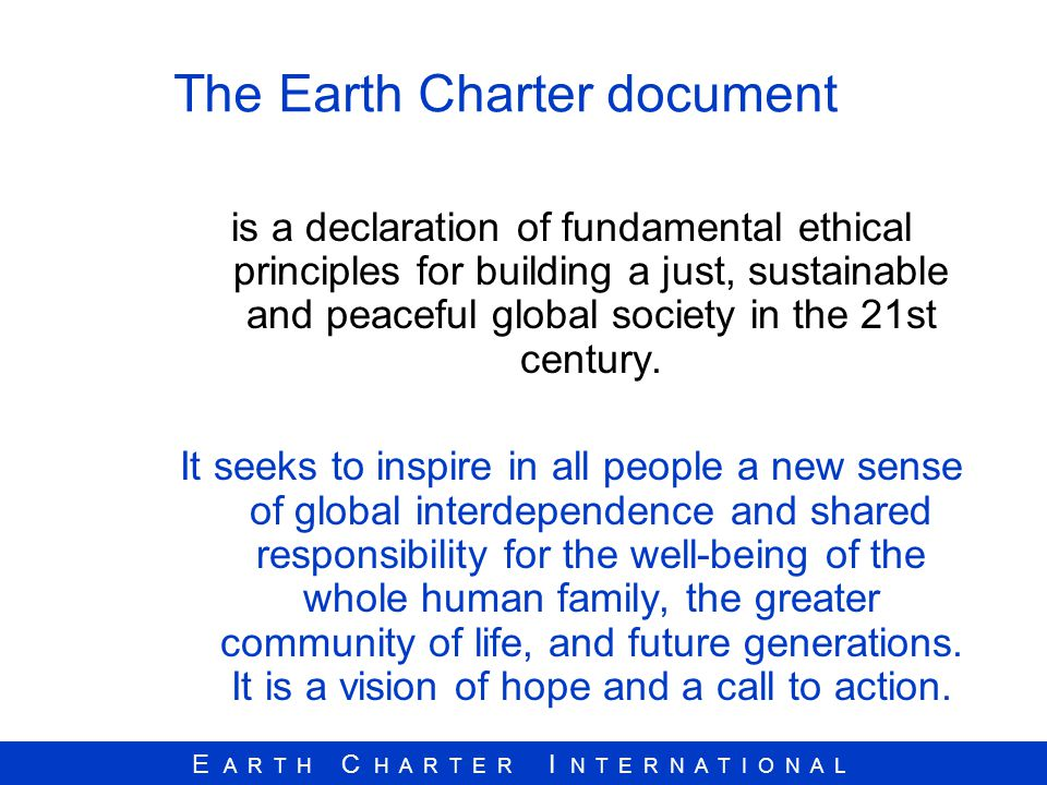 The Earth Charter document