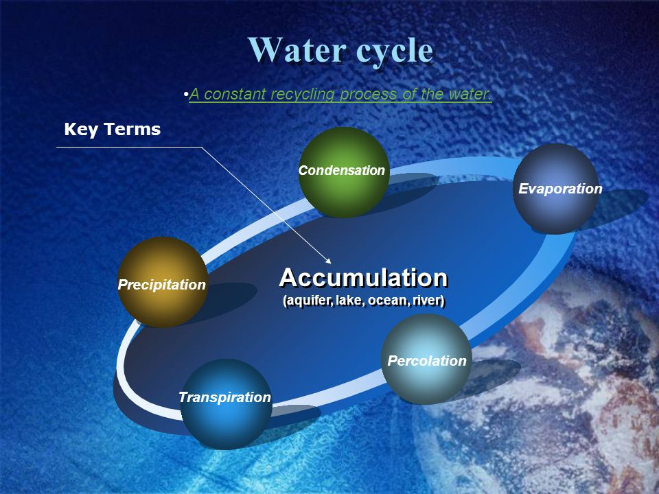 (aquifer, lake, ocean, river)