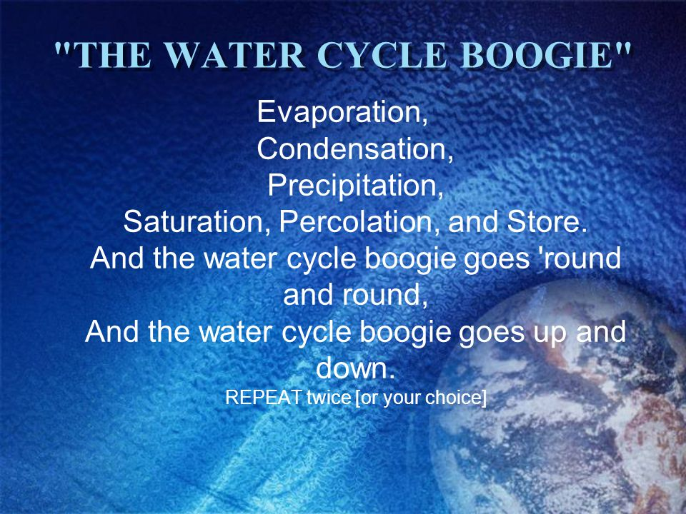 THE WATER CYCLE BOOGIE