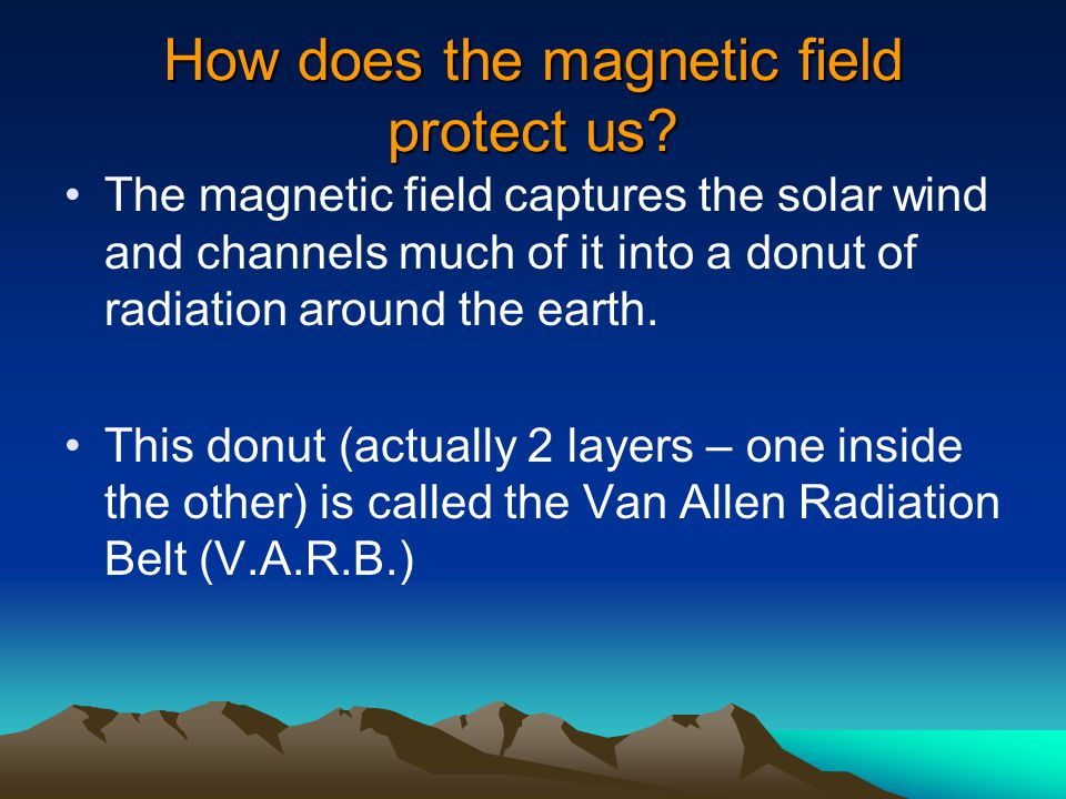 How does the magnetic field protect us