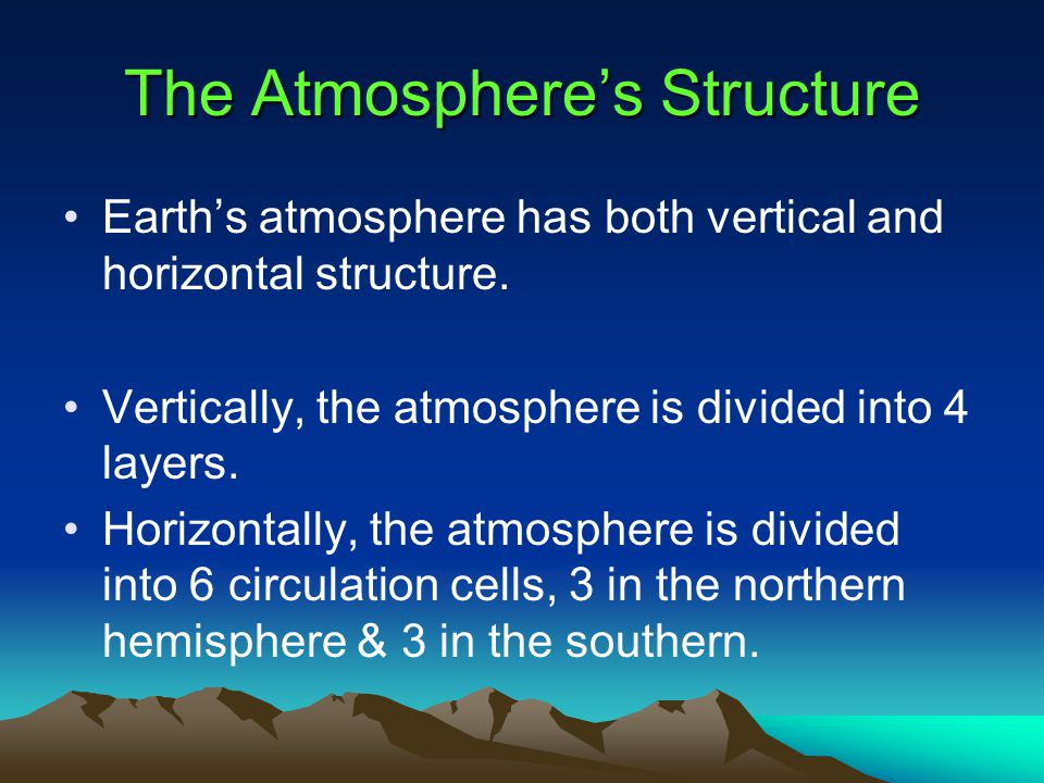 The Atmosphere's Structure