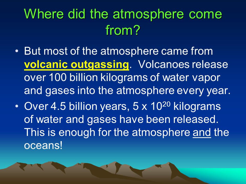 Where did the atmosphere come from